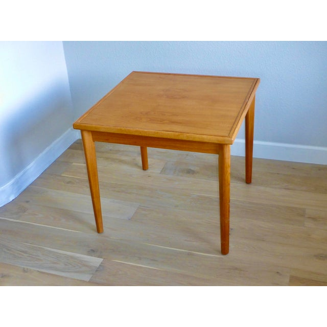 Mid Century Danish Modern Brdr Furbo Denmark Square Teak Game Table For Sale - Image 12 of 12