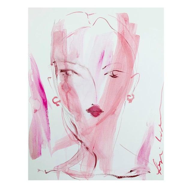 Lady in Pink by Leslie Weaver For Sale