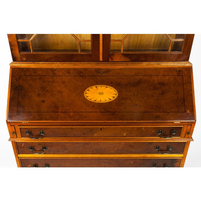 Antique Mahogany Desk Front Hutch or Cabinet For Sale - Image 9 of 13
