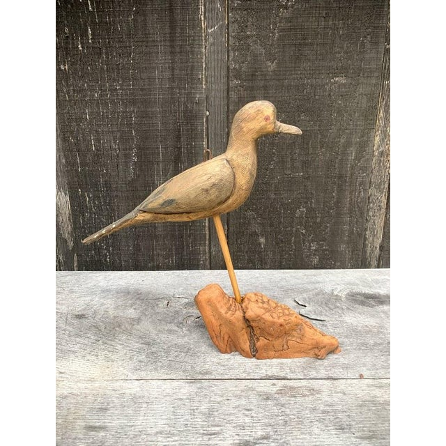 Mid-Century Modern Hand Carved Bird For Sale - Image 3 of 7