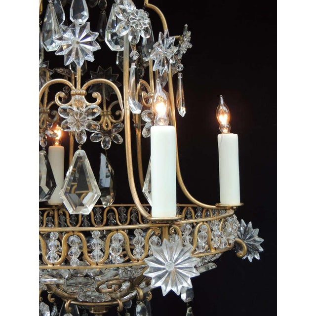 Early 20th Century Early 20th C French Bronze Crystal Chandelier, attributed to Maison Baguès For Sale - Image 5 of 10