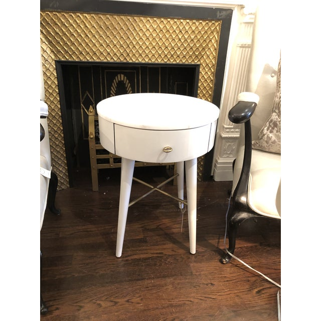 Penelope Nightstand With Marble Top For Sale In New York - Image 6 of 6