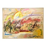 """Image of Vintage 1992 """"Sunlight & Spirit"""" Large Original Abstract Expressionist Oil on Canvas For Sale"""