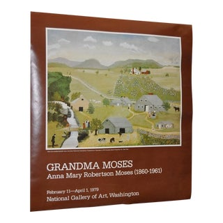 "Vintage ""Grandma Moses"" Exhibition Poster National Gallery of Art, Washington, DC 1979"