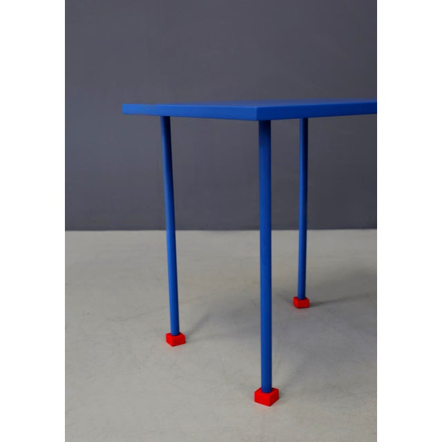 First prototype designed by Ettore Sottsass for the Ghianda factory in the 1980s. The coffee table is a unique piece, in...
