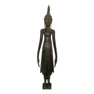 19th Century Lao Buddha Statue For Sale