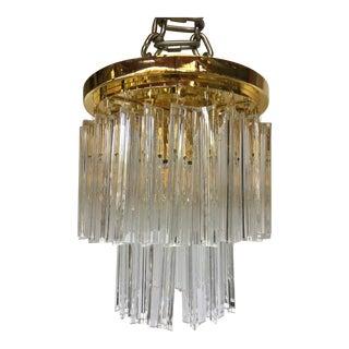 Triedo Murano Glass Sputnik Flush Mount Chandelier For Sale