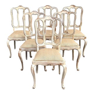 French Country Louis XV Dining Chairs - Set of 6 For Sale