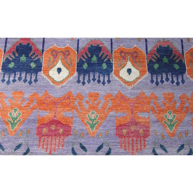 """Hand Knotted Ikat Rug by Aara Rugs Inc. 12'5"""" X 9'5"""" For Sale - Image 5 of 7"""