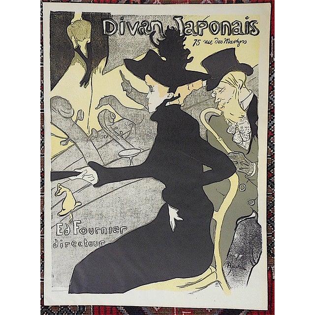 """Art Nouveau Vintage Lautrec Lithograph """"Divan Japonais"""" For Sale - Image 3 of 3"""
