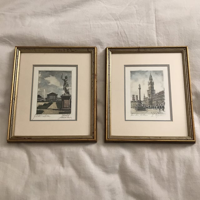 Framed Scenic European Prints - A Pair - Image 9 of 9