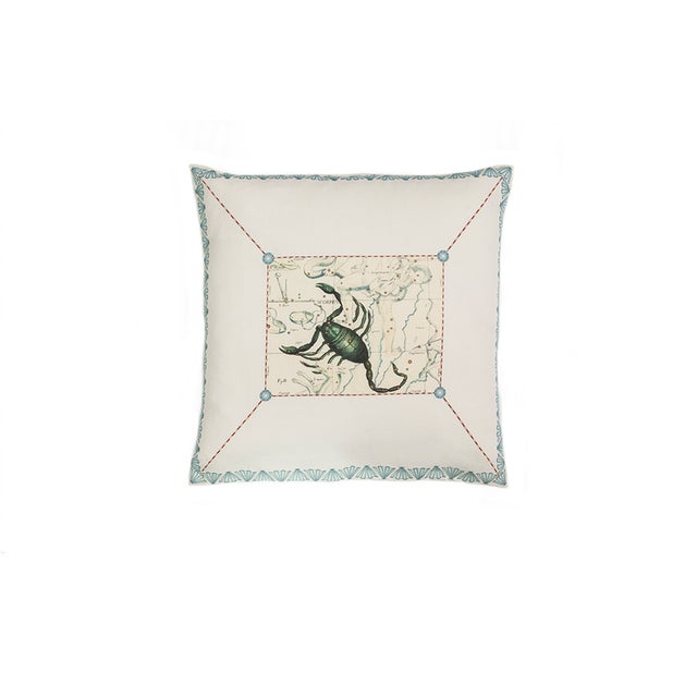 Scorpio Pillow For Sale - Image 4 of 4