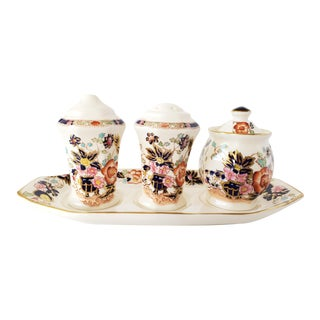 "Mason's Ironstone ""Mandarin"" Condiments Set For Sale"