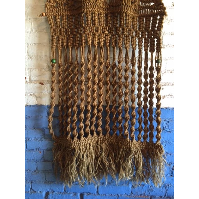 Vintage Large Weave Woven Art Wall Hanging - Image 3 of 8