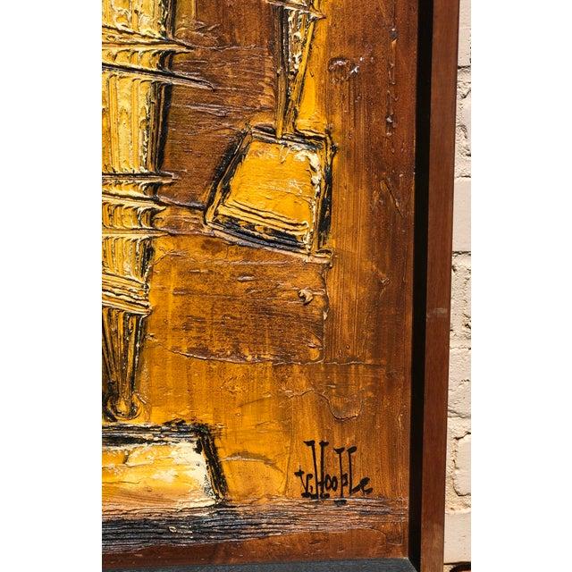 Mid-Century Modern Mid-Century Original Van Hoople Impasto Oil on Board For Sale - Image 3 of 6