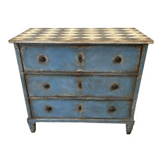 Italian Tuscan Painted Commode Chest of Drawers - 18th C For Sale