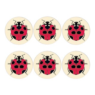 Lady Bird Placemats Set of 6 For Sale