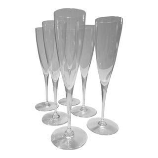 Dom Pérignon Baccarat Champagne Flutes - Set of 6 For Sale