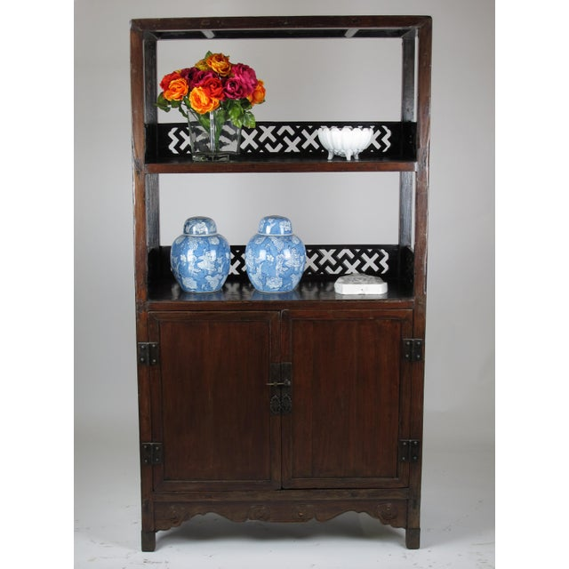 Asian Asian Style Elmwood Book Cabinet For Sale - Image 3 of 8