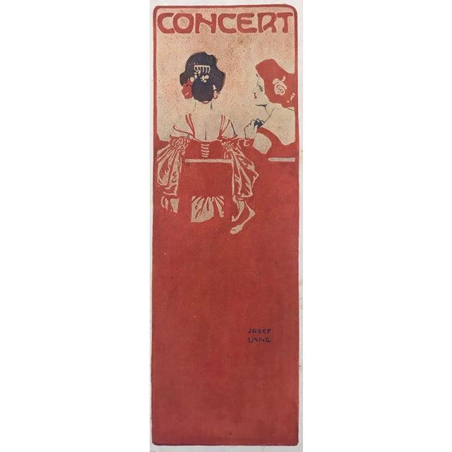 1906 Original German Art Nouveau Poster, Decorator Print, #18, Art Deco Fashion For Sale - Image 4 of 8