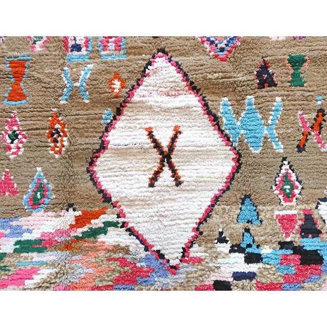 Cotton Moroccan Boucherouite Rug - 4′6″ × 6′5″ For Sale - Image 7 of 13