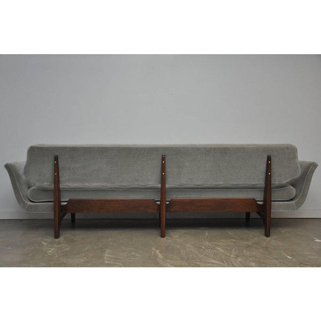 La Gondola Sofa in Gray Mohair by Edward Wormley for Dunbar For Sale - Image 9 of 11