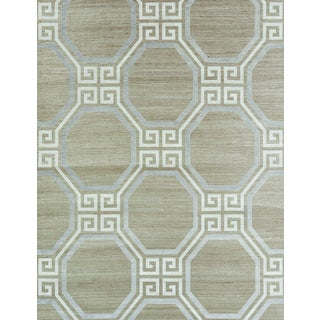 Sample - Schumacher Octavia Shimmer Wallpaper in Quartz For Sale