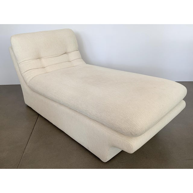 Modernist Fully Upholstered Chaise Lounge by Preview For Sale - Image 9 of 13