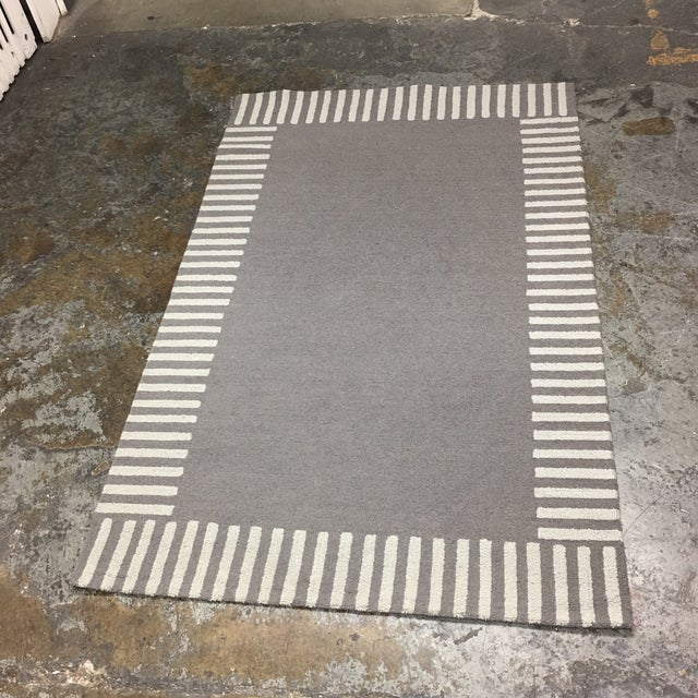 Gray Striped Area Rug - 5' x 8' - Image 3 of 9