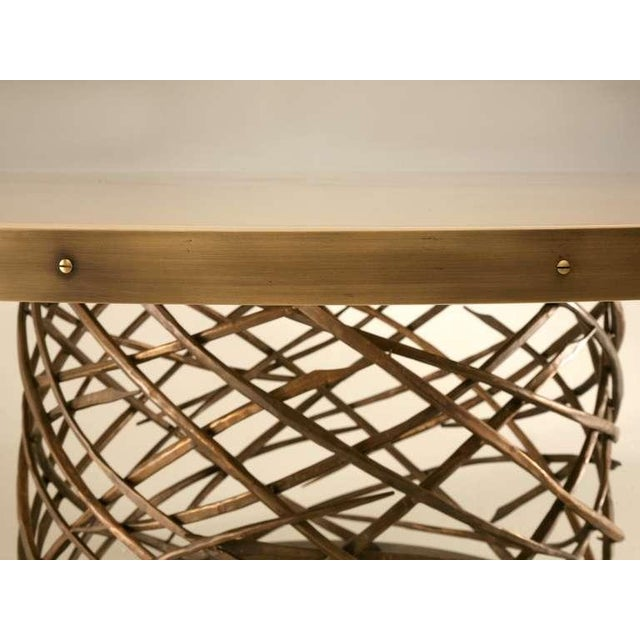 Custom-Made Woven Solid Bronze Table Base For Sale - Image 11 of 11