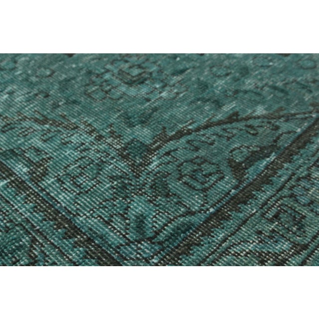 """Persian Green Overdyed Rug - 9'11"""" x 13'1"""" - Image 2 of 2"""