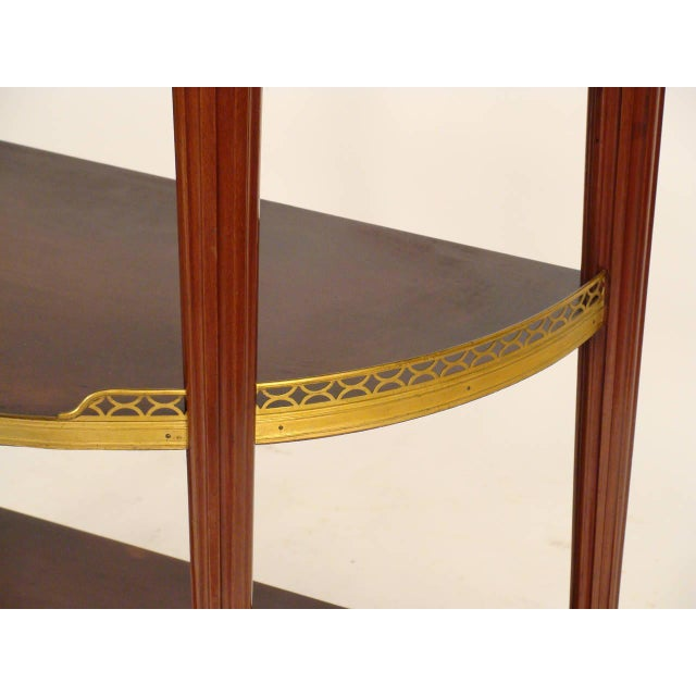 Brown Louis XVI Style Console Table For Sale - Image 8 of 11