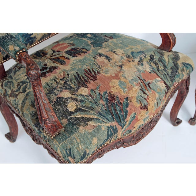 Pair of Period Louis XV Fauteuils - Image 6 of 9