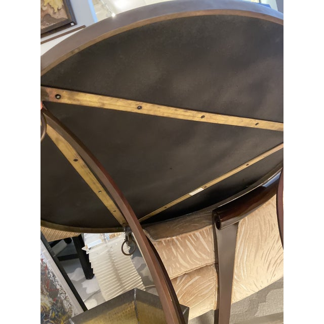 Round Gueridon Table in Bronze by Sarried. For Sale In Miami - Image 6 of 7