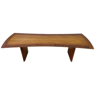 Mid-Century Modern Walnut Coffee Table by t.h. Robsjohn-Gibbings for Widdicomb For Sale