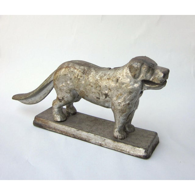 1930s Vintage Cast Iron Dog Golden Retriever Labrador Hinged Tabletop Nutcracker For Sale - Image 9 of 9