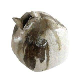 Mid 20th Century Neutral Glazed Studio Pottery Vase For Sale