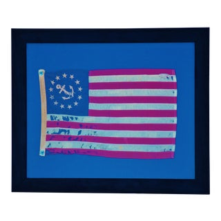 Framed Vintage Chris-Craft Boat Nautical Flag For Sale