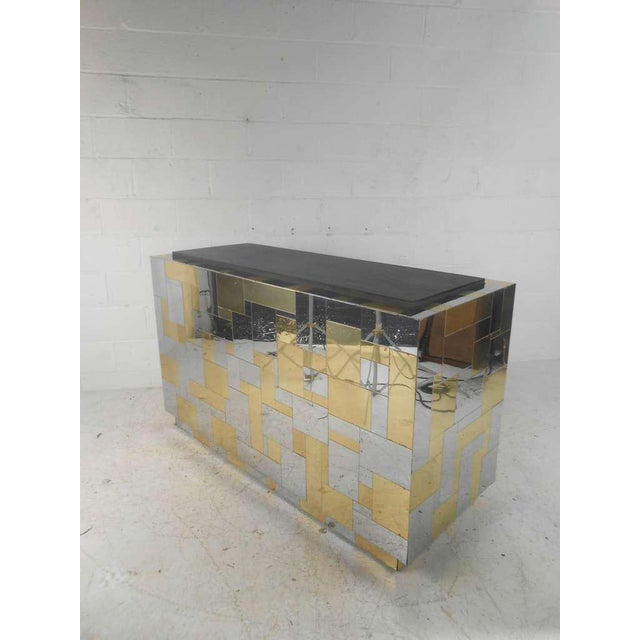 Mid-Century Modern Paul Evans Cityscape Style Mid-Century Modern Bar For Sale - Image 3 of 9