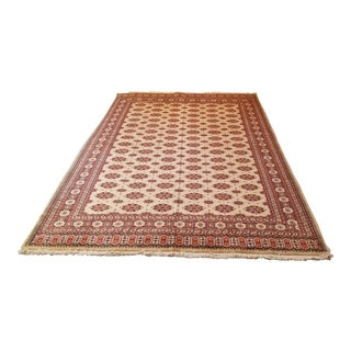 Wool Hand Woven Afghan Rug - 6′3″ × 9'5″ For Sale