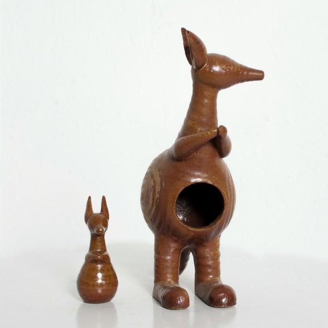 Mid-Century Danish Modern Kangaroo & Joey Ceramic Pottery by Lisa Larson for Gustavberg For Sale - Image 10 of 10
