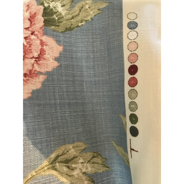 Colefax & Fowler Karina Blue Linen Fabric - 7 3/8 Yards For Sale - Image 4 of 10
