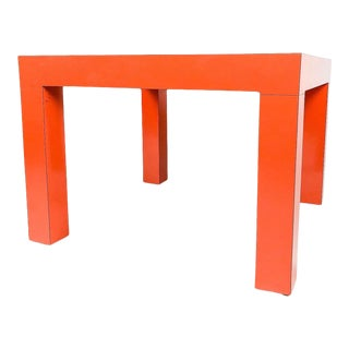 1970s Poppy Formica Parsons Table For Sale