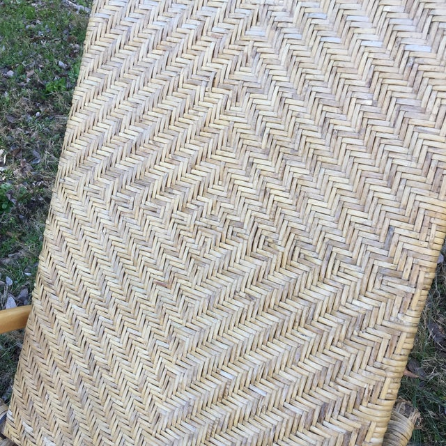 Vintage Wicker Chaise - Image 5 of 5
