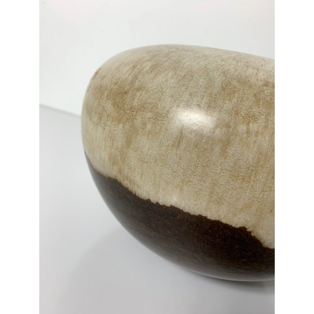 Boho Chic Rare Alvino Bagni Large Earth Tone Vase 1960's For Sale - Image 3 of 10