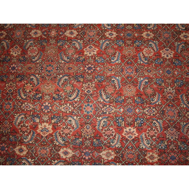"Antique Persian Handmade Mahal Rug - 8'9"" X 11'7"" For Sale In New York - Image 6 of 10"
