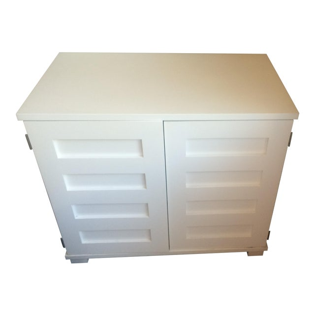 Crate & Barrel Filing Cabinet and Pull-Out Desk For Sale