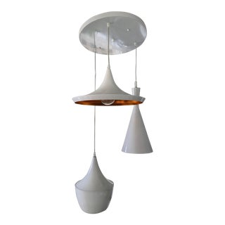 White Modern Lamp, in the Style of Tom Dixon For Sale