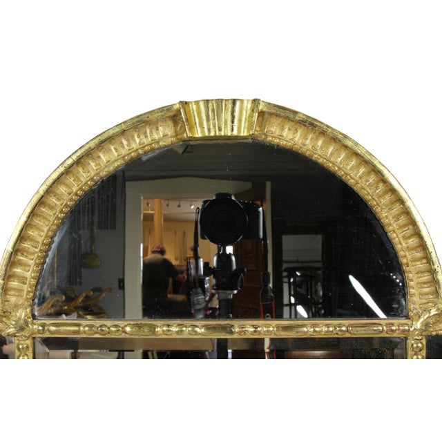 Mid-Century Modern Swedish Neoclassic Giltwood Mirror For Sale - Image 3 of 6