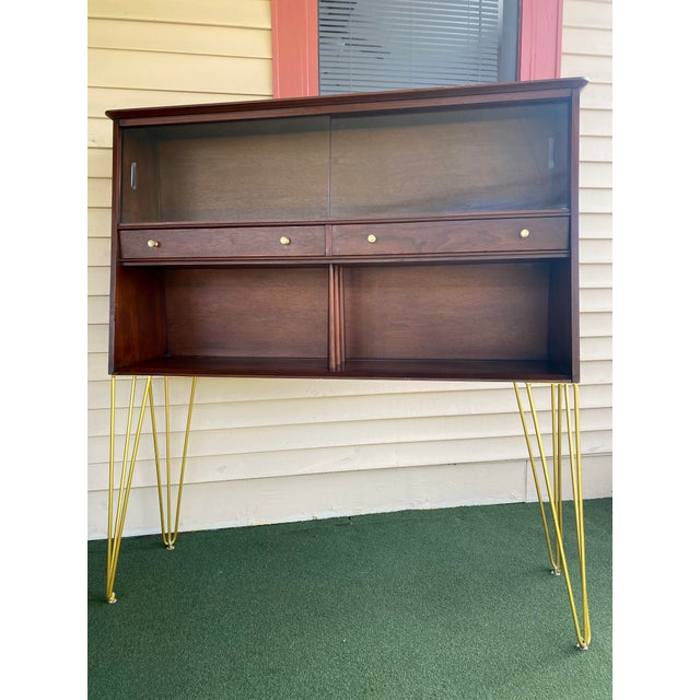 Metal Mid Century Modern Hairpin Cabinet For Sale - Image 7 of 7